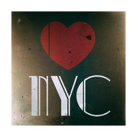 Decorative Art - Love Sign - NYC - New York City - USA Reproduction procédé giclée