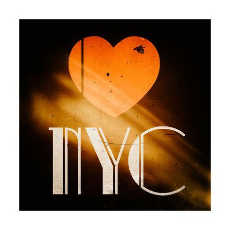 Decorative Art - Love Sign - NYC - New York City - USA Reproduction procédé giclée