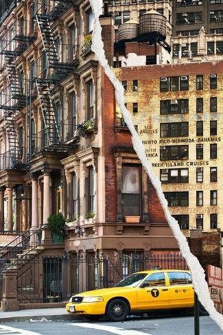 Dual Torn Posters Series - New York City Reproduction photographique