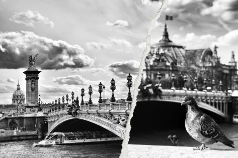 Dual Torn Posters Series - Paris - France Reproduction photographique