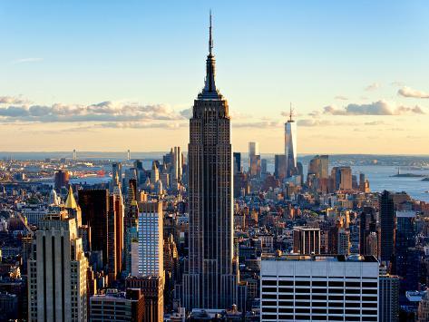 En ville au cr puscule empire state building et one world for B b new york centro