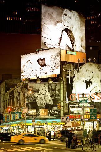 Panneaux Publicitaires À Times Square Reproduction photographique