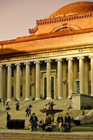 The Library Of Columbia University In New York Au Couché Du Soleil Reproduction photographique