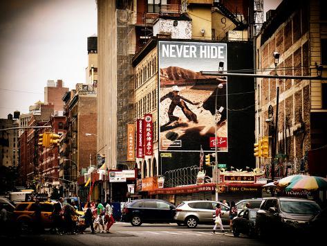 Urban Scene, Chinatown, Manhattan, New York, United States, Vintage Reproduction photographique