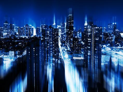 Urban Stretch Series, Fine Art, Blue Night, Manhattan, New York, United States Autre