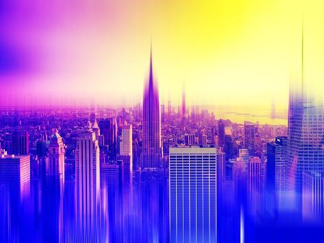 Urban Stretch Series, Fine Art, Empire State Building, Sunset, Manhattan, New York, United States Autre