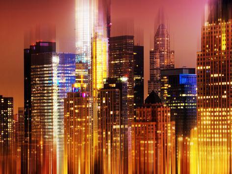 Urban Stretch Series, Fine Art, Newyorker, Manhattan by Night, New York, United States Autre