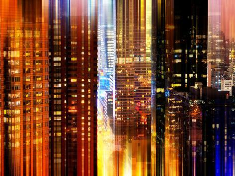 Urban Stretch Series - Times Square and 42nd Street by Night - Manhattan - New York Reproduction photographique