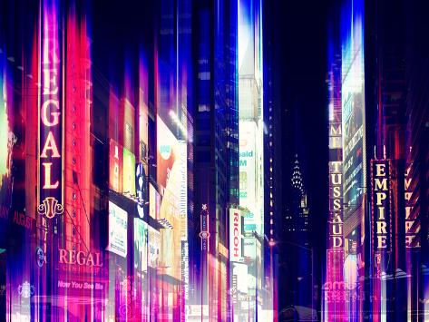 Urban Stretch Series - Times Square by Night - Manhattan - New York Reproduction photographique