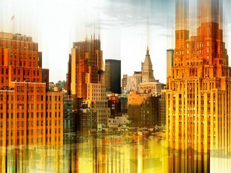 Urban Stretch Series - West Village Buildings View - Manhattan - New York Reproduction photographique