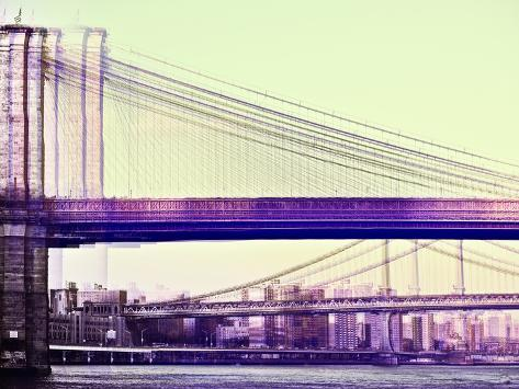 Urban Vibrations Series, Fine Art, Brooklyn Bridge, Manhattan, New York City, United States Autre