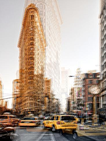 Urban Vibrations Series, Fine Art, Flatiron Building, Manhattan, New York City, United States Reproduction photographique