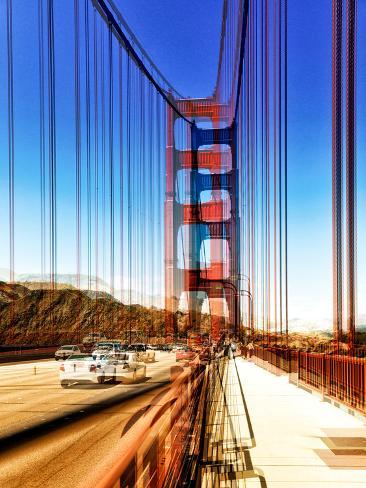 Urban Vibrations Series, Fine Art, Golden Gate Bridge, San Francisco, United States Autre