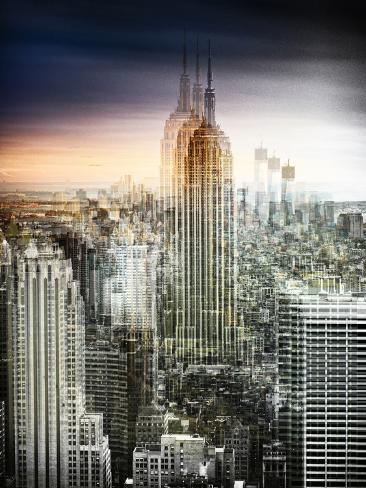 Urban Vibrations Series, Fine Art, Landscape, Empire State Building, United States Autre