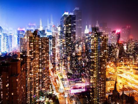 Urban Vibrations Series, Fine Art, Times Square, Manhattan, New York City, United States Autre
