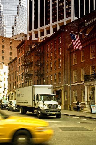 Vue Lifestyle Dun'E Rue New Yorkaise À Manhattan Reproduction photographique