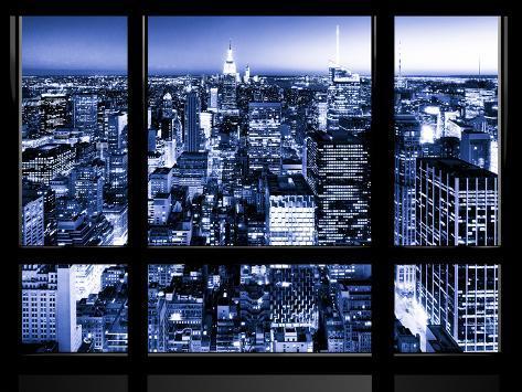 Window View, Landscape Manhattan City, Empire State Building, Manhattan, New York City Autre