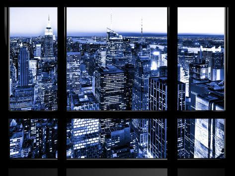 Window View, Special Series, Skyscrapers View at Night, Manhattan, New York, NYC Autre