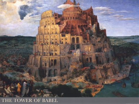 La Tour de Babel, vers1563 Reproduction d'art
