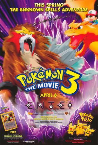 Pokémon3: le Sort des Zarbi Affiche originale