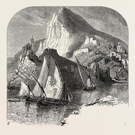 Porto Venere, Spezia, La Spezia, the Cornice Road, Liguria, Italy, 19th Century Reproduction procédé giclée