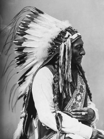 Connu Portrait d'un chef indien d'Amérique Reproduction photographique  ES15