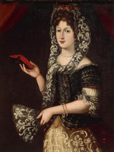 Portrait of Noblewoman, from Gonzaga Period, Detail Reproduction procédé giclée