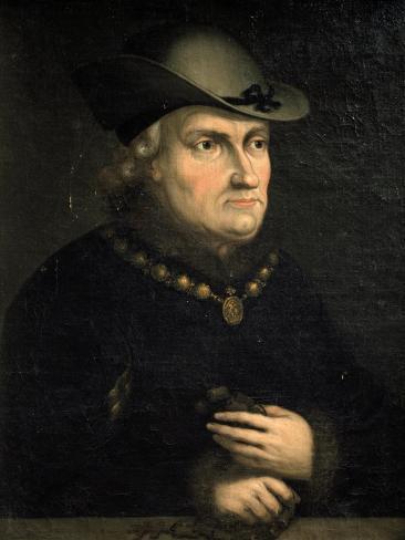 Portrait of Rene D'Anjou, also known as Good King Rene Reproduction procédé giclée