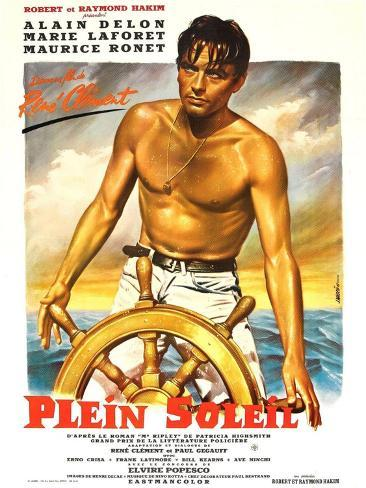 Purple Noon, French Movie Poster, 1964 Reproduction d'art