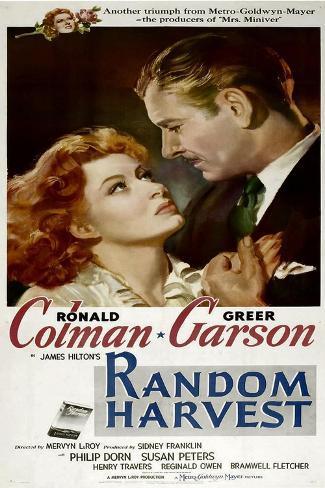Random Harvest, Greer Garson, Ronald Colman, 1942 Reproduction d'art