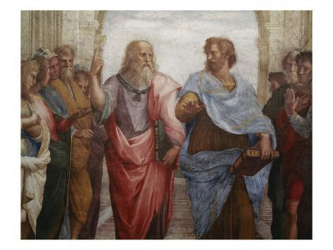 Detail of Plato and Aristotle from The School of Athens Reproduction procédé giclée