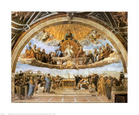La dispute du Très Saint Sacrement Reproduction d'art