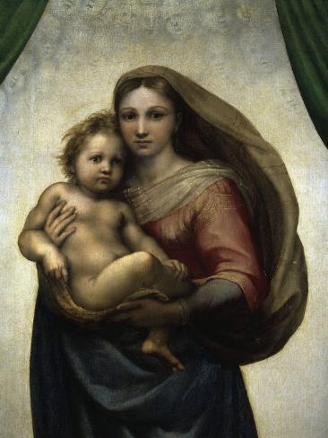 The Sistine Madonna Reproduction procédé giclée