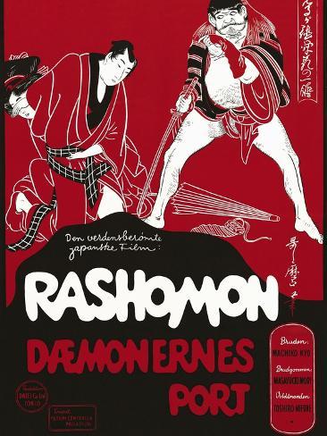 Rashomon, Japanese Movie Poster Reproduction procédé giclée