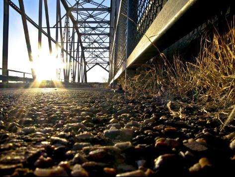 Old Route 66 Metal Bridge over Rio Peurco, 20 Miles West of Albuquerque Reproduction photographique