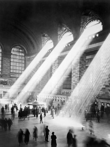 Rayons de soleil dans la gare de Grand Central, New York Reproduction photographique