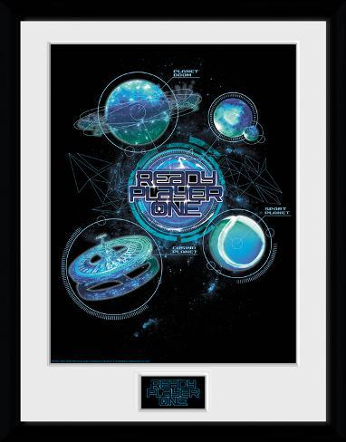 Ready Player One - Planets Reproduction encadrée pour collectionneurs
