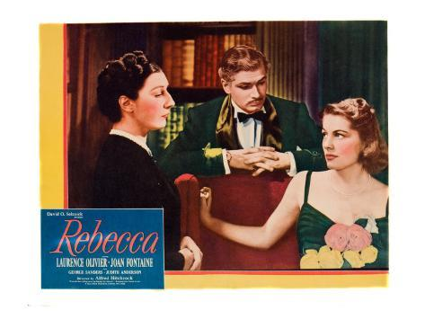 Rebecca, Judith Anderson, Laurence Olivier, Joan Fontaine, 1940 Photographie