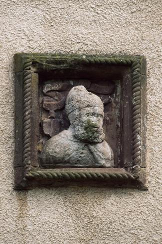 Relief Depicting a Head, Detail from Preston Tower, Fyvie Castle, Aberdeenshire, Scotland Reproduction procédé giclée