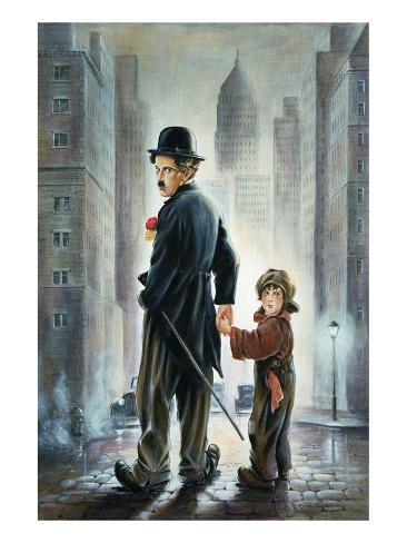 Charly Chaplin 6 Reproduction d'art