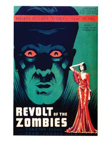 Revolt Of The Zombies - 1936 Reproduction procédé giclée