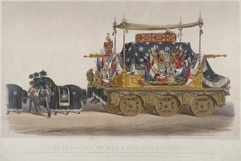 View of the Funeral Car of the Duke of Wellington, 1852 Reproduction procédé giclée