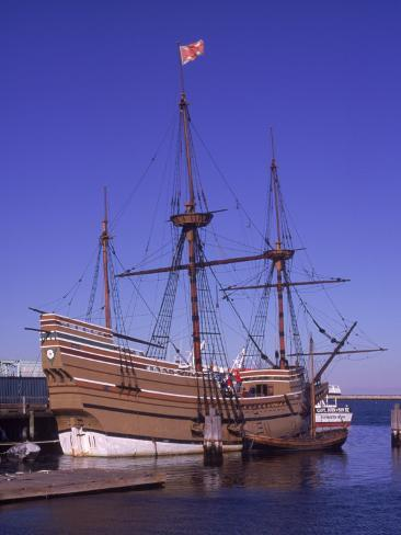 Bateau des pèlerins, le Mayflower, Plymouth, MA Reproduction photographique