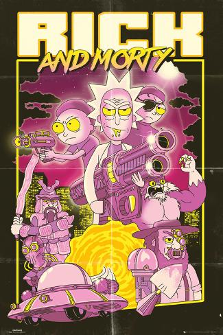 Rick & Morty - Action Movie Poster