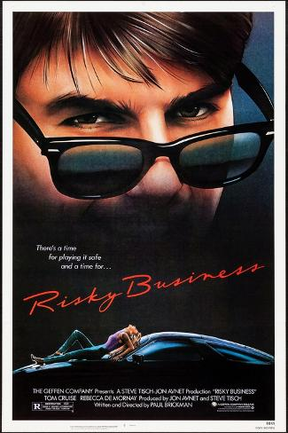 Risky Business, Tom Cruise, Rebecca De Mornay, 1983. © Warner Bros. Courtesy: Everett Collection Reproduction d'art