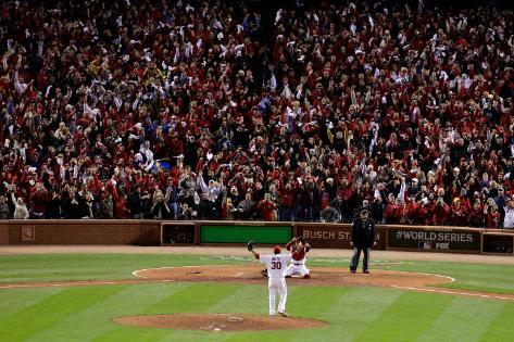 Game 7 - Rangers v Cardinals, St Louis, MO - October 28: Jason Motte and Yadier Molina Autre