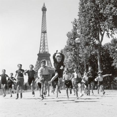 Les jardins du Champs-de-Mars, 1944 (photographie noir & blanc) Reproduction d'art
