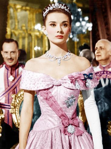 ROMAN HOLIDAY, Audrey Hepburn, 1953 Photographie