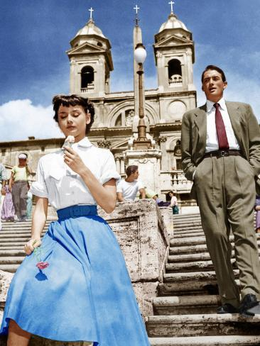 ROMAN HOLIDAY, from left: Audrey Hepburn, Gregory Peck, 1953 Photographie