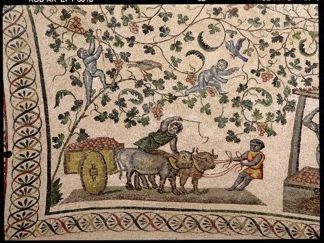 The Grape Harvest (Mosaic) Reproduction procédé giclée